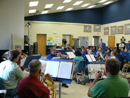 Brass performance class at Clewiston Middle School